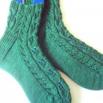 Leafy Twist Socks Cuff Down