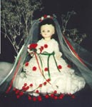 Christmas Bride Tissue Doll