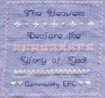 Heavens Declare Designed for a Quilt Raffle fundraiser for our local Respite Chapter